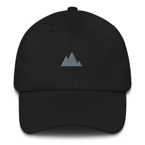 ICONSPEAK ONE Mountain Dad Hat - ICONSPEAK Travel shirt, traveller t-shirt, backpacker and backpacking shirt, icon language shirt