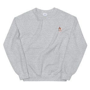 ICONSPEAK ONE Fire Sweatshirt Embroidered - ICONSPEAK Travel shirt, traveller t-shirt, backpacker and backpacking shirt, icon language shirt