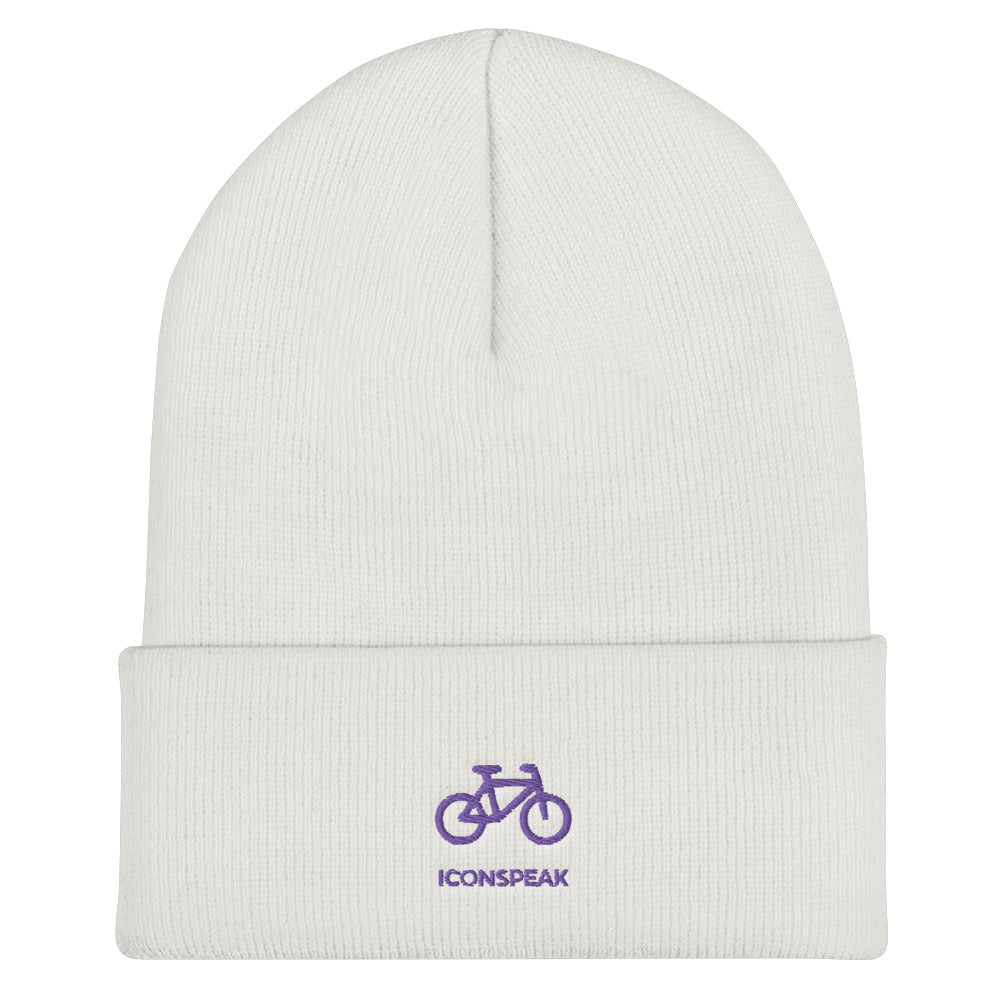 ICONSPEAK ONE Bicycle Beanie - ICONSPEAK Travel shirt, traveller t-shirt, backpacker and backpacking shirt, icon language shirt