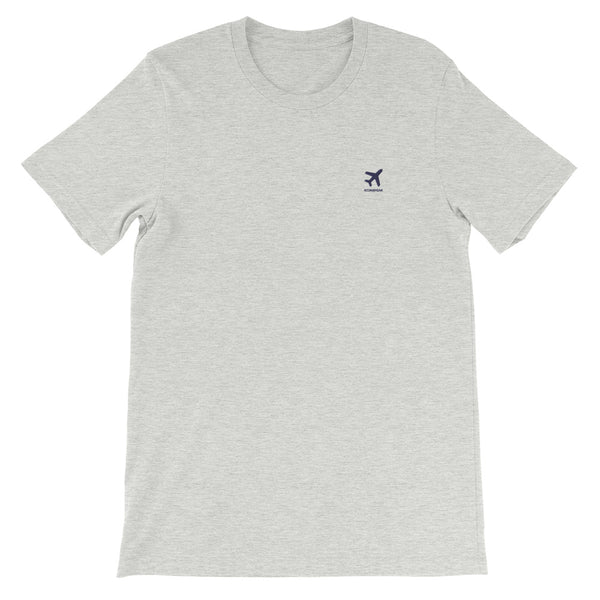 ICONSPEAK ONE Plane Shirt Embroidered - ICONSPEAK Travel shirt, traveller t-shirt, backpacker and backpacking shirt, icon language shirt
