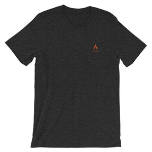 ICONSPEAK One Fire Shirt Embroidered - ICONSPEAK Travel shirt, traveller t-shirt, backpacker and backpacking shirt, icon language shirt