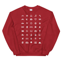 Load image into Gallery viewer, ICONSPEAK World Edition Unisex Traveller Sweatshirt - ICONSPEAK Travel shirt, traveller t-shirt, backpacker and backpacking shirt, icon language shirt