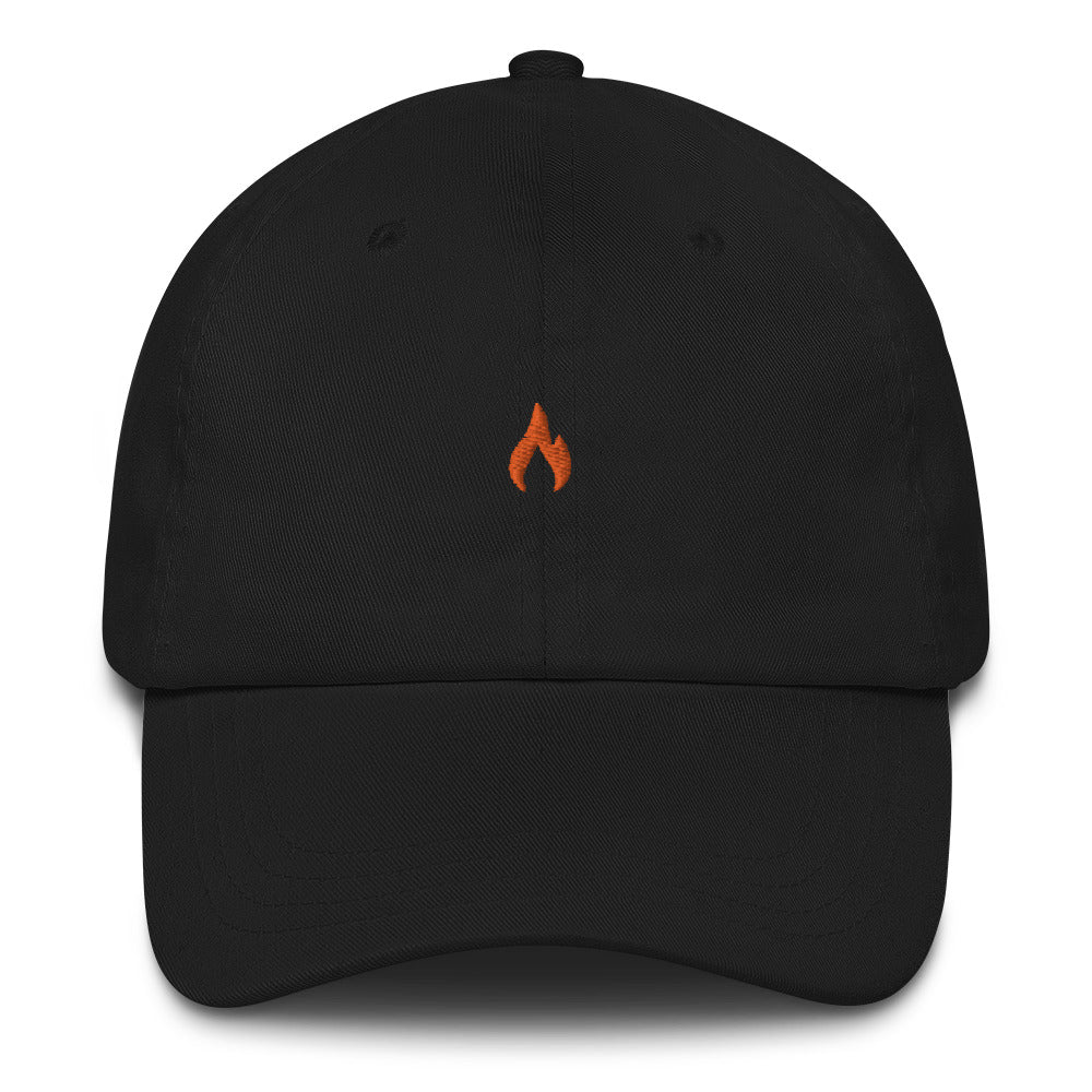 ICONSPEAK One Fire Dad Hat Embroidered - ICONSPEAK Travel shirt, traveller t-shirt, backpacker and backpacking shirt, icon language shirt