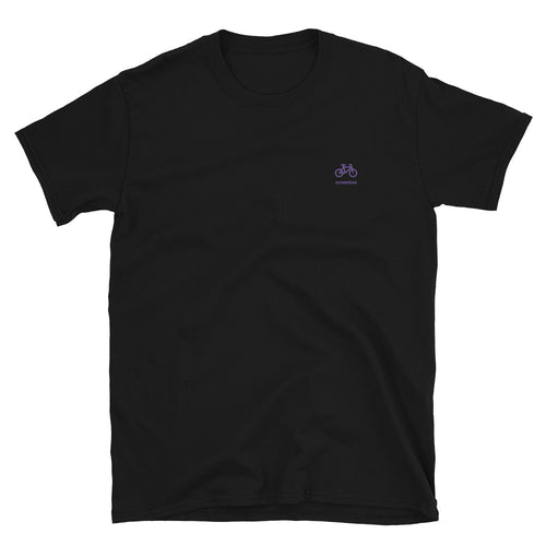 ICONSPEAK One Bicycle Shirt Embroidered - ICONSPEAK Travel shirt, traveller t-shirt, backpacker and backpacking shirt, icon language shirt
