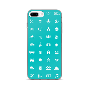 ICONSPEAK World Edition iPhone Cases - ICONSPEAK Travel shirt, traveller t-shirt, backpacker and backpacking shirt, icon language shirt