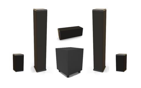 5.1 WM Series Wireless Pro Speaker Bundle