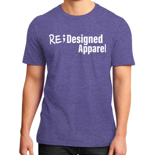 District T-Shirt (on man) Heather purple RE;Designed Apparel