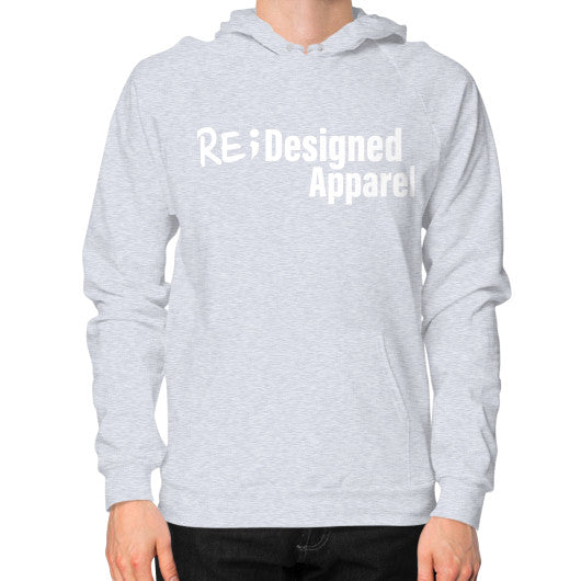 Hoodie (on man) Heather grey RE;Designed Apparel