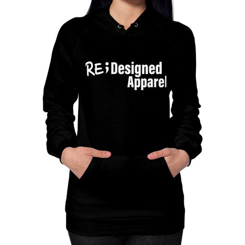 Hoodie (on woman) Black RE;Designed Apparel