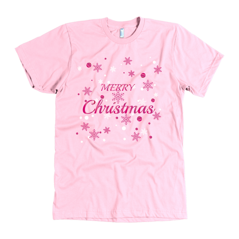 Merry Christmas in Pink Foil