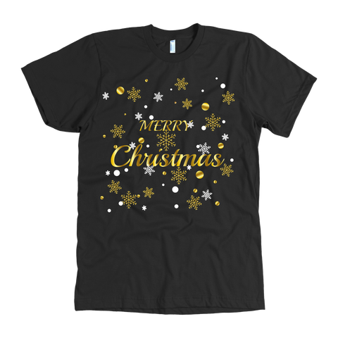 Merry Christmas in Gold Foil