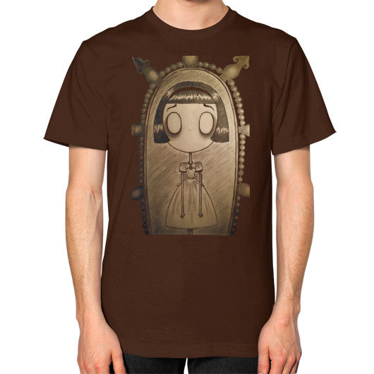 Unisex T-Shirt (on man) Brown RE;Designed Apparel