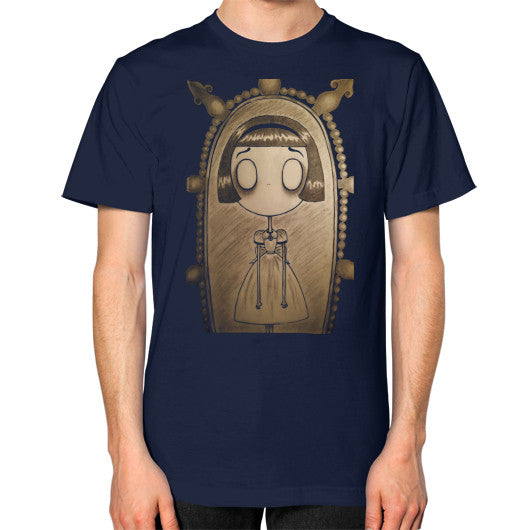 Unisex T-Shirt (on man) Navy RE;Designed Apparel