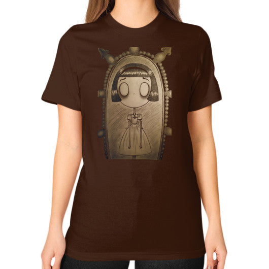Unisex T-Shirt (on woman) Brown RE;Designed Apparel