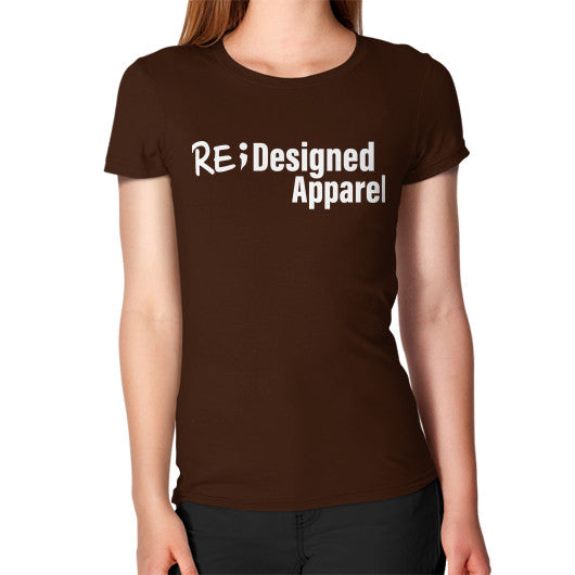 Women's T-Shirt Brown RE;Designed Apparel