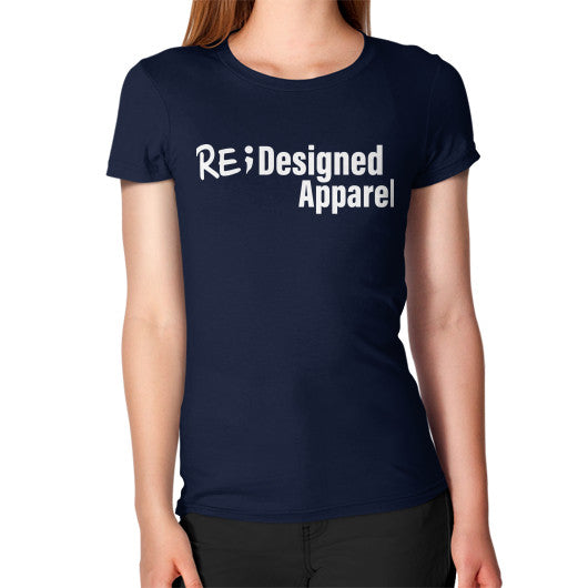 Women's T-Shirt Navy RE;Designed Apparel