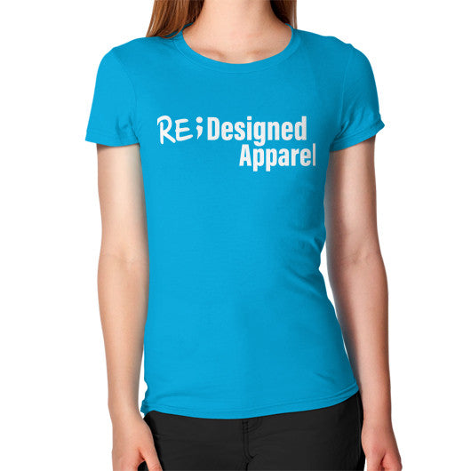 Women's T-Shirt Teal RE;Designed Apparel