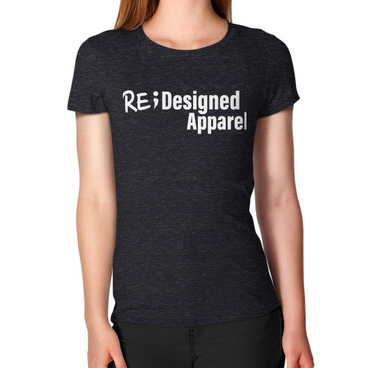 Women's T-Shirt Tri-Blend Black RE;Designed Apparel