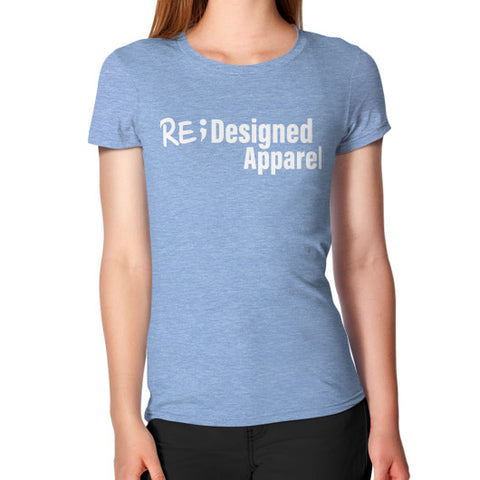 Women's T-Shirt Tri-Blend Blue RE;Designed Apparel