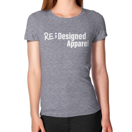 Women's T-Shirt Tri-Blend Grey RE;Designed Apparel