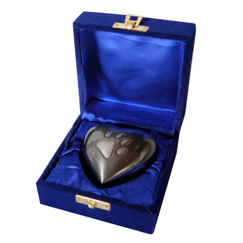 Brass Heart Urn - Pewter Finish