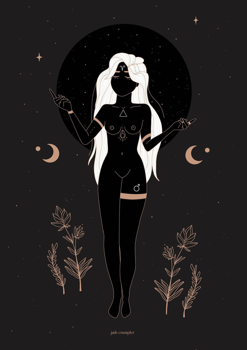 Aries Goddess Print - Unearthed Crystals