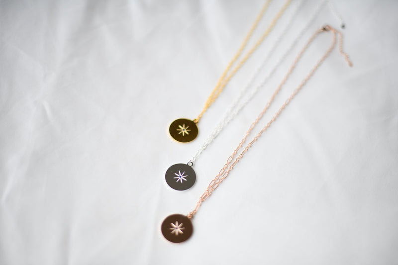 STARBURST Necklace | September | Sapphire - Unearthed Crystals