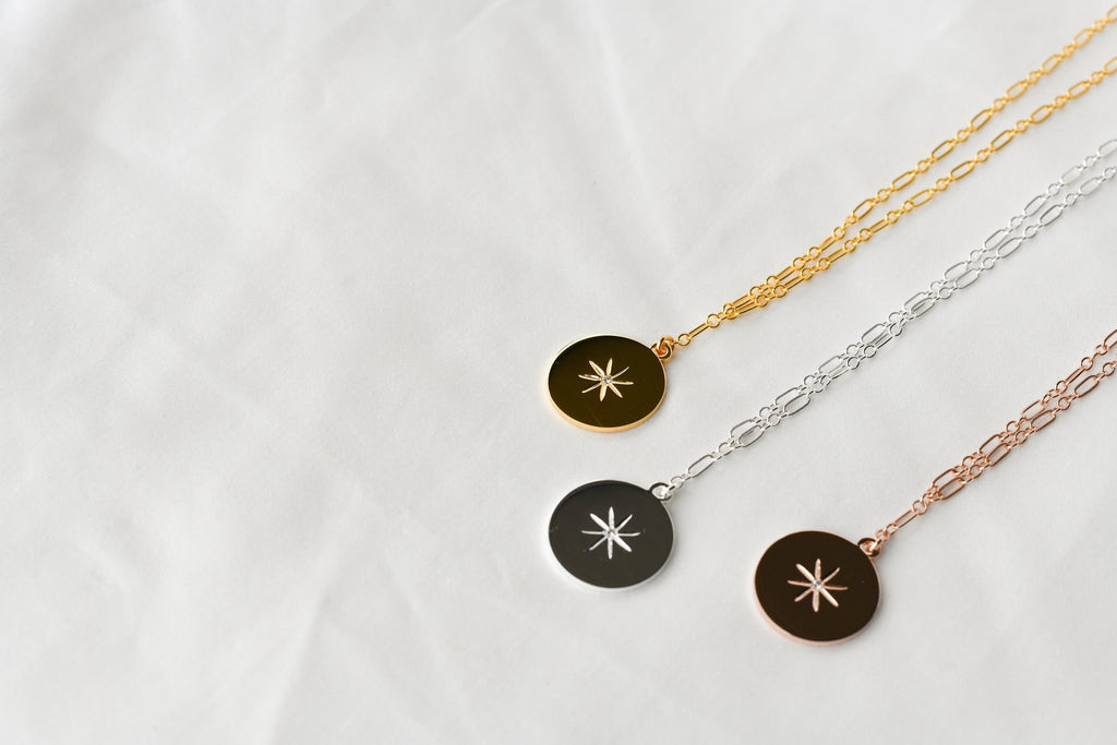 STARBURST Necklace | April | Diamond - Unearthed Crystals