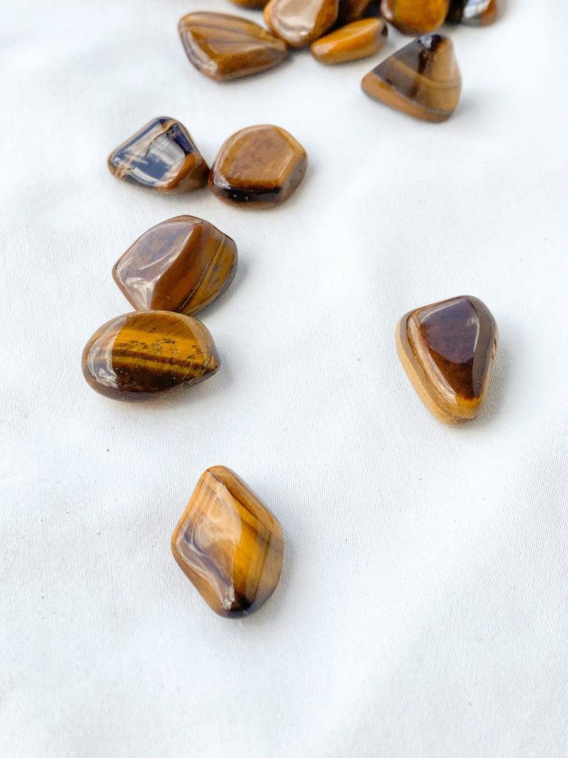 Tigers Eye Tumbles | Mini - Unearthed Crystals