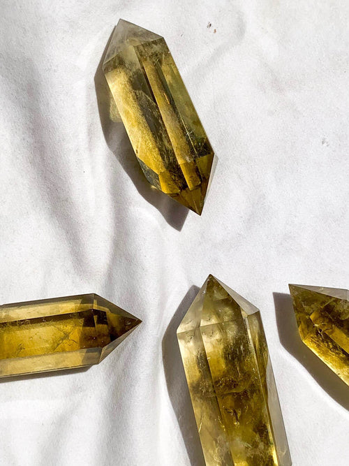 Citrine Double Terminated Point | Medium - Unearthed Crystals