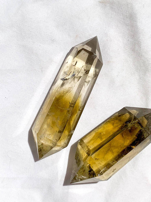 Citrine Double Terminated Point | Large - Unearthed Crystals