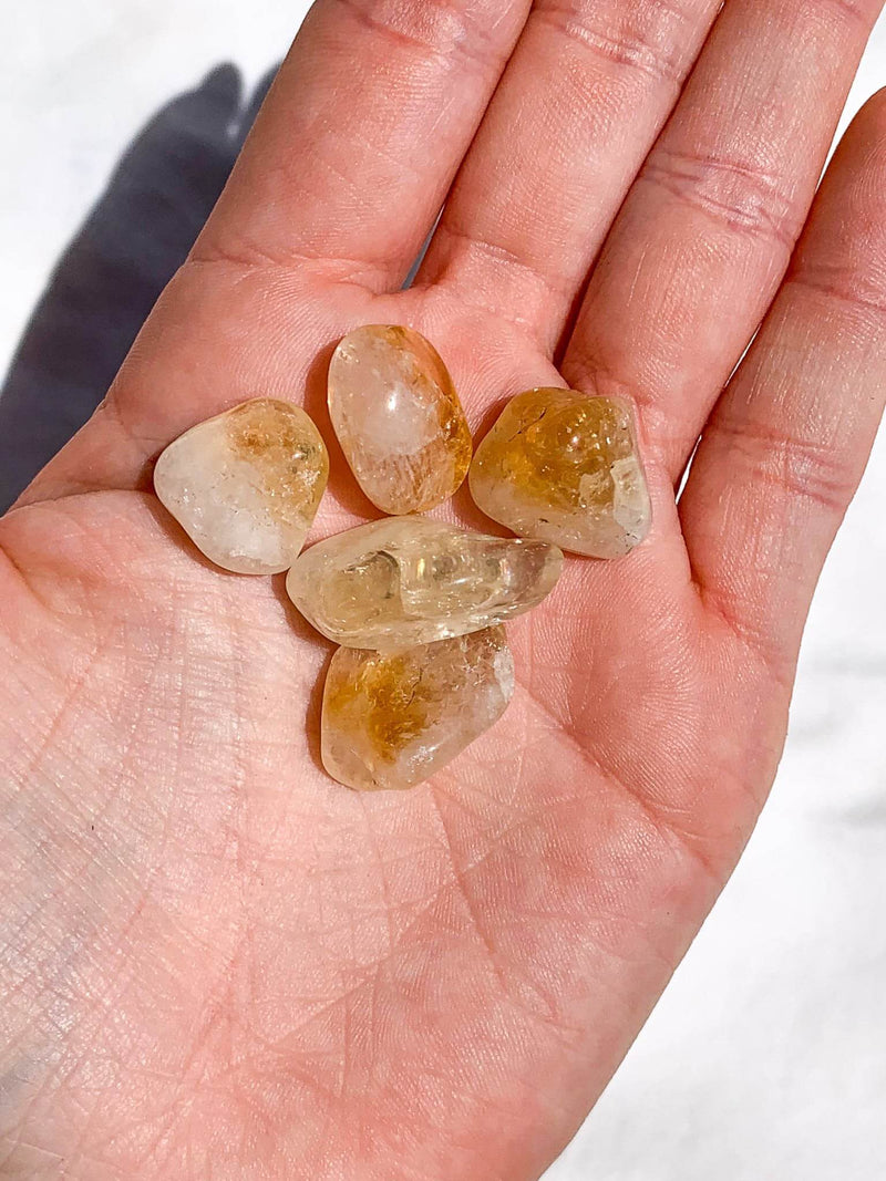 Citrine Tumbles | Mini ( Pack of 5) - Unearthed Crystals
