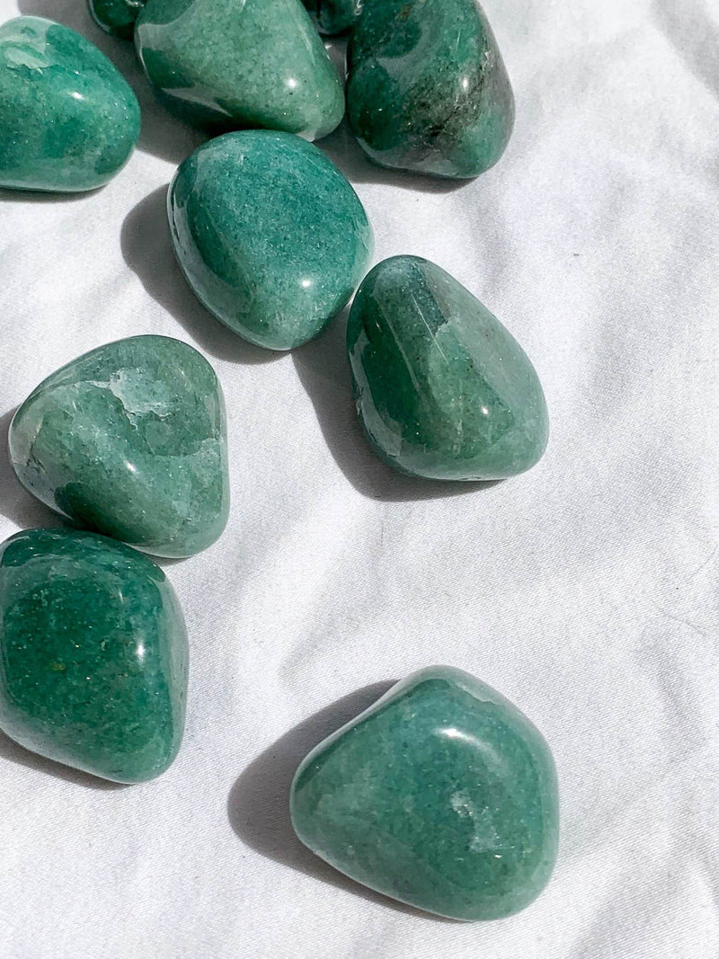 Green Aventurine Tumbles | Medium - Unearthed Crystals