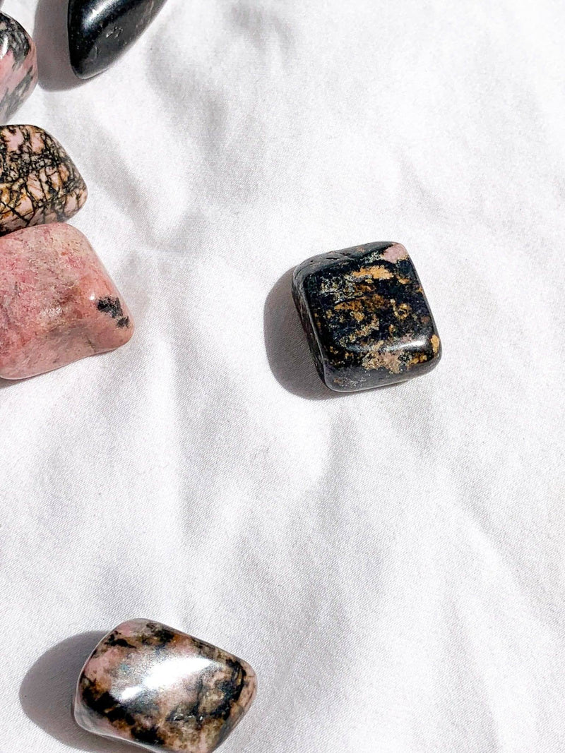 Rhodonite Tumbles (A Grade) | Small - Unearthed Crystals