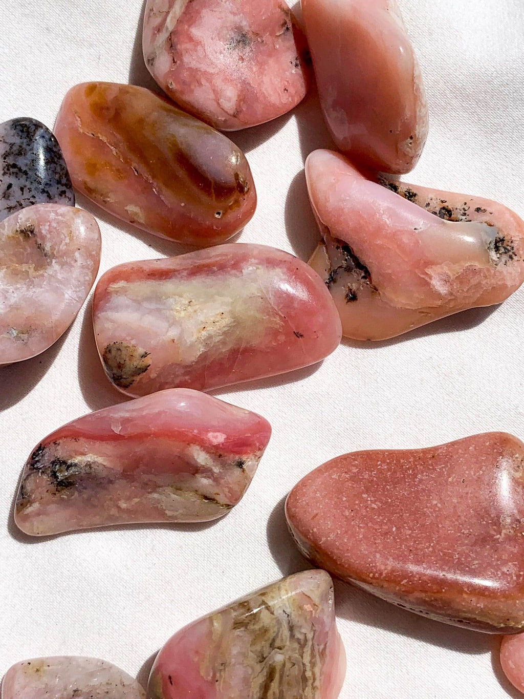 Pink Opal Tumbles | Small - Unearthed Crystals