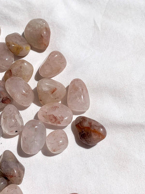 Hematite Included Quartz Tumbles | Mini - Unearthed Crystals