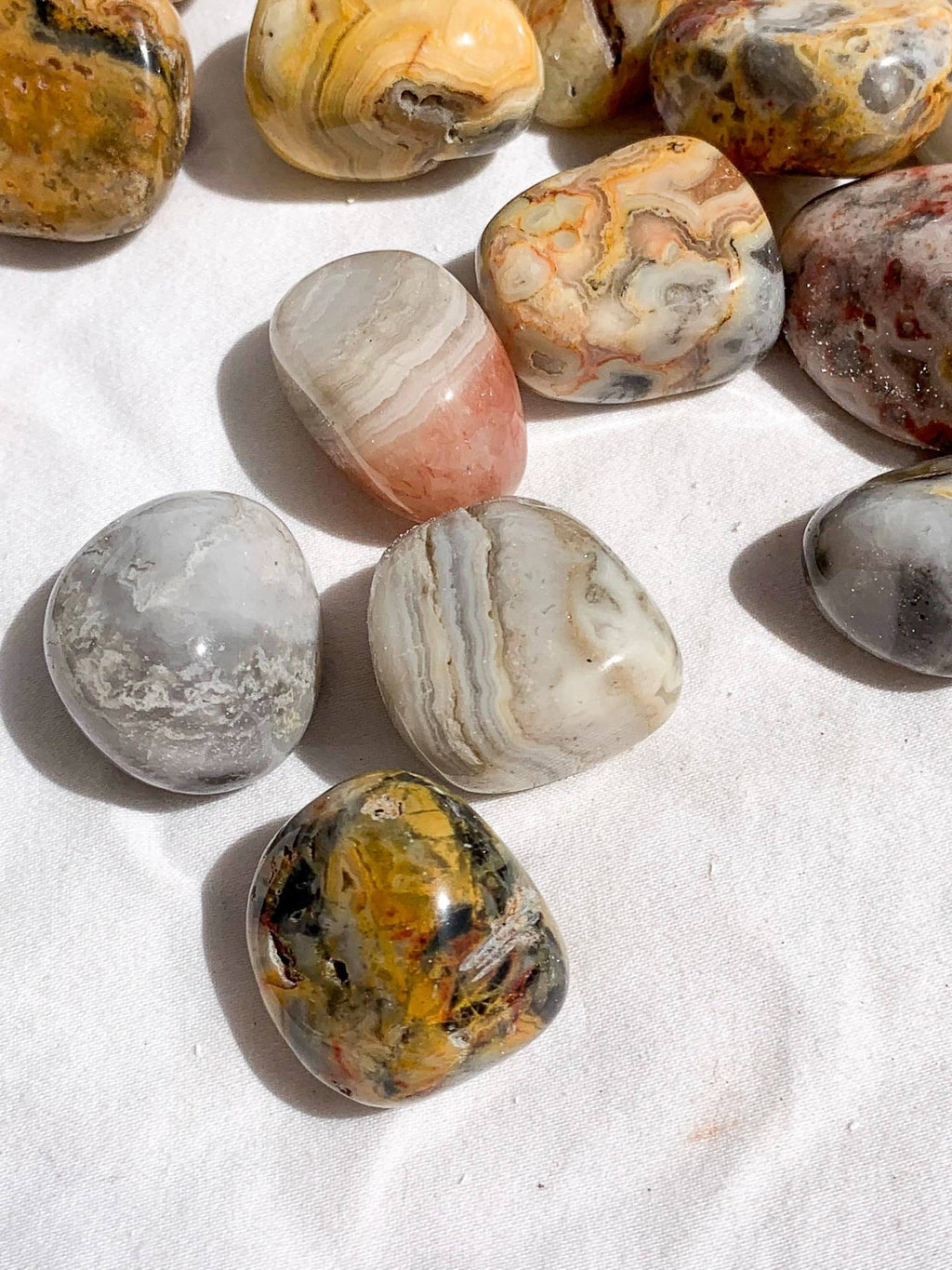 Crazy Lace Agate Tumbles | Small - Unearthed Crystals