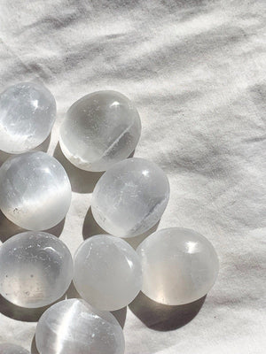 Selenite Tumbles | Large - Unearthed Crystals