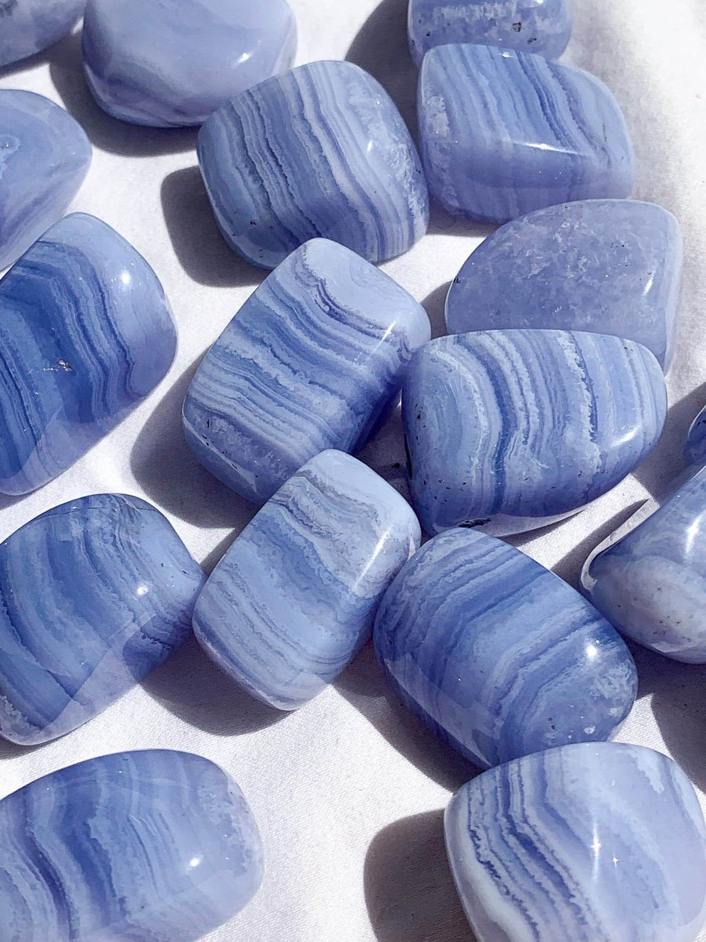 Blue Lace Agate Tumbles | Medium - Unearthed Crystals