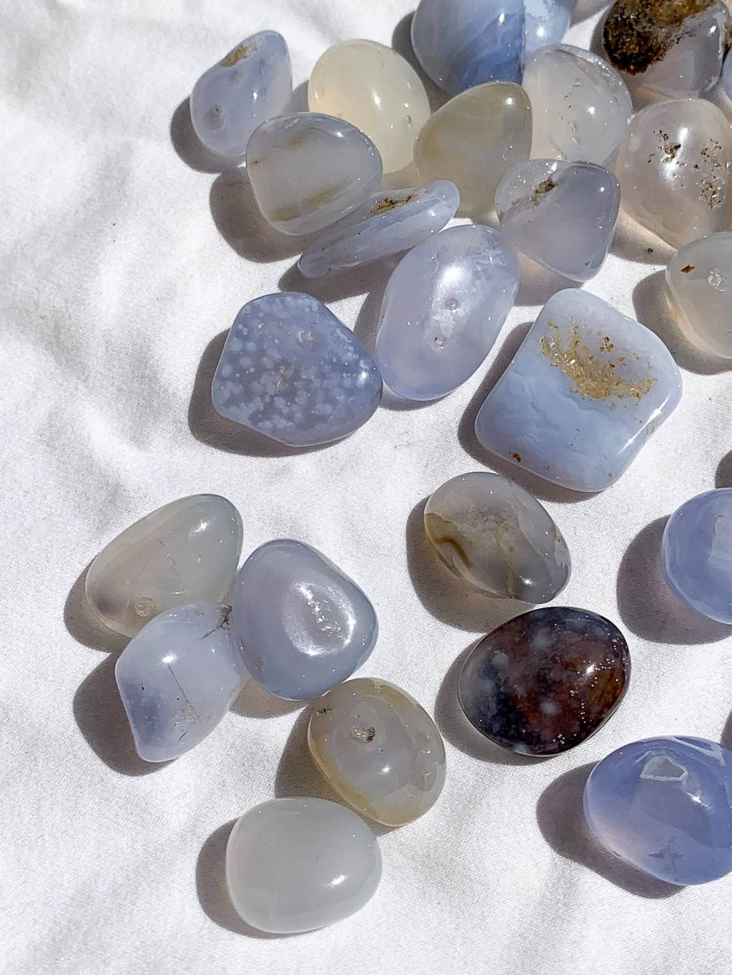 Blue Chalcedony Tumbles | Mini - Unearthed Crystals