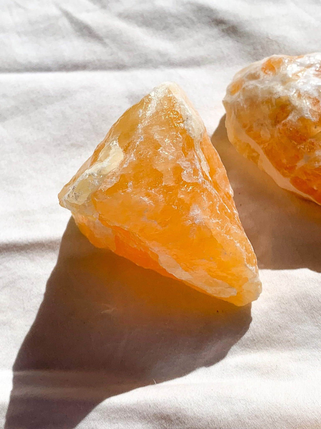 Orange Calcite Rough | Extra Large - Unearthed Crystals