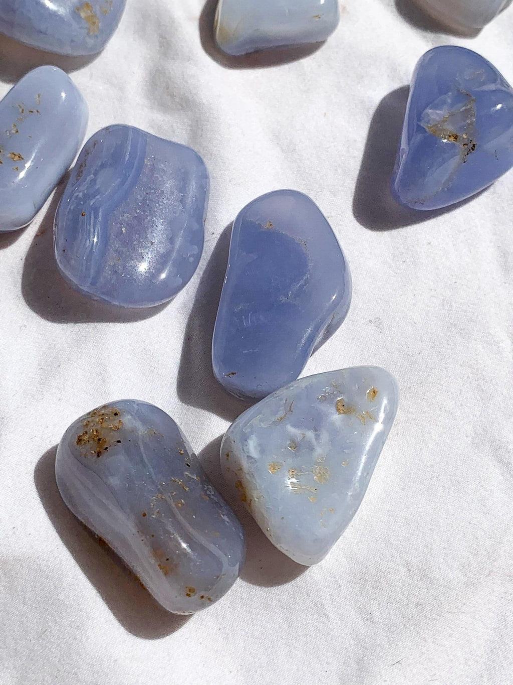 Blue Chalcedony Tumbles | Medium - Unearthed Crystals