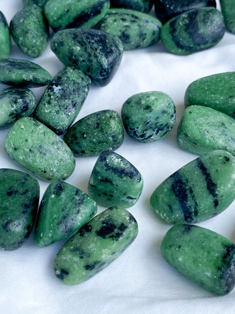 Zoisite Tumbles | Medium - Unearthed Crystals