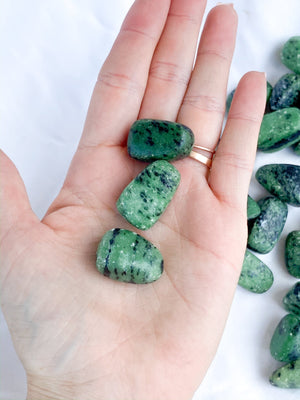 Zoisite Tumbles | Small - Unearthed Crystals