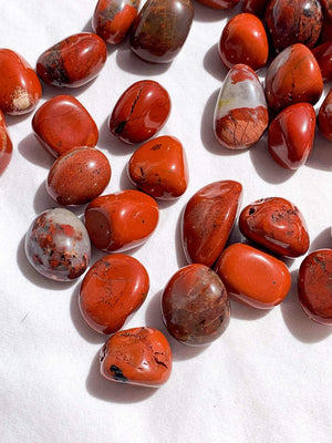 Red Jasper Tumbles | Small - Unearthed Crystals