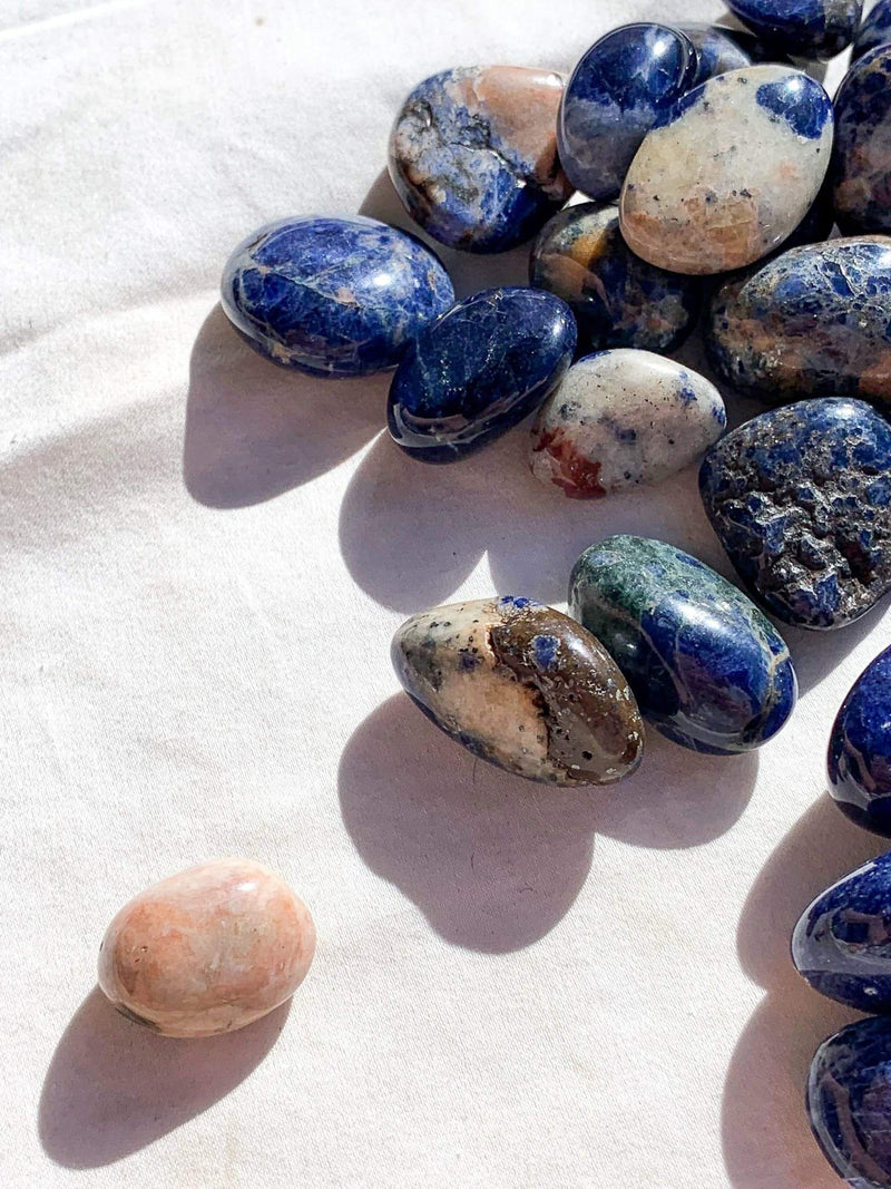Sunset Sodalite Tumbles | Small - Unearthed Crystals