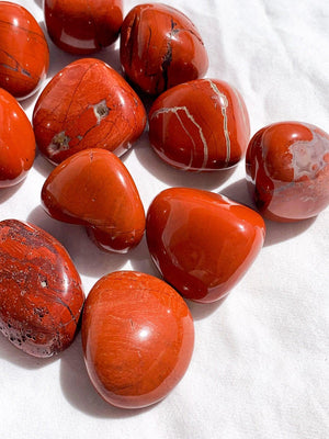 Red Jasper Tumbles | Medium - Unearthed Crystals