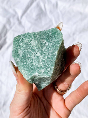 Green Aventurine Rough | Extra Large - Unearthed Crystals