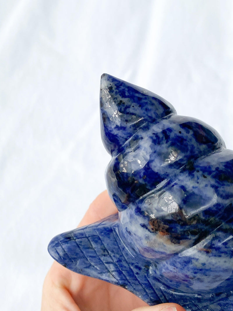 Sodalite Snail Carving - Unearthed Crystals