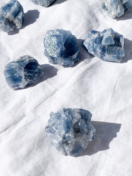 Blue Calcite Rough | Small - Unearthed Crystals